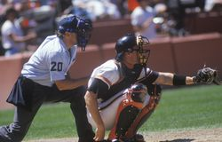 Major league catcher Royalty Free Stock Photos