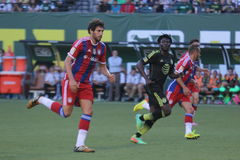 Major League Soccer All-Stars e FC Baviera Munchen Foto de Stock Royalty Free