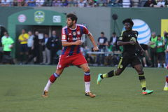 Major League Soccer All-Stars und FC Bayern Munchen Stockfoto