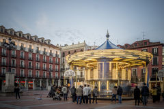 Major panoramic Plaza of Valladolid Royalty Free Stock Images