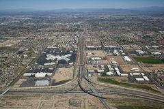 Major Phoenix area Interchange Royalty Free Stock Photo