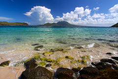 Major's Bay Beach - St Kitts. The beach at Major's Bay on the Caribbean island of St Kitts Royalty Free Stock Image