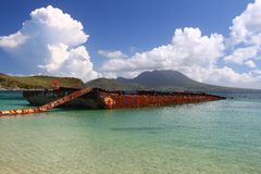 Major's Bay - St Kitts Stock Photos