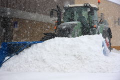 Major snowstorm in Quebec stock photo