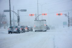 Major snowstorm in Quebec Royalty Free Stock Photos