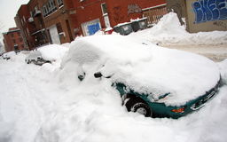 Major snowstorm in Quebec royalty free stock photography