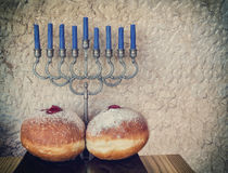 Major traditional Jewish symbols for Hanukkah holiday Stock Photo