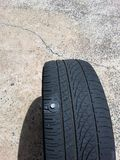 Major tyre problems Stock Image