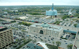 Major Winnipeg Landmark Architecture Imágenes de archivo libres de regalías