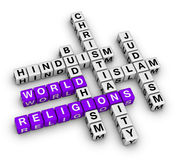 Major world religions Stock Photography
