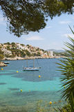 Majorca. View of the ocean and yachts, Majorca, Spain stock image