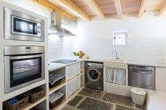 Majorca Baleaars binnenhuis in Baleaarse Mediterrane stijl stock foto