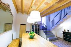 Majorca Balearic indoor house in Balearic Mediterranean style Stock Photo