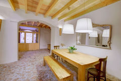 Majorca Balearic indoor house in Balearic Mediterranean style Stock Images