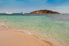 Mallorca beach. Clear waters at Mallorca (Majorca) beach, Portals Nous Royalty Free Stock Photography