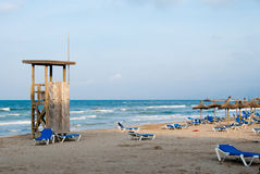 Majorca beach in the evening. Spain Stock Images