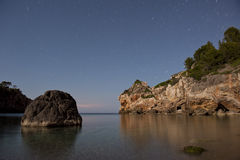 Majorca beach at night Royalty Free Stock Images