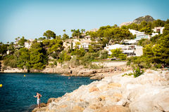 Majorca Beach. Place in Balearic Islands. A little heaven in Vitoria Royalty Free Stock Image