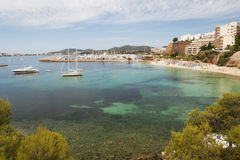 Mallorca beach resort. Clear waters on Mallorca (Majorca) beach resort (Portals nous Stock Photography