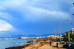 Majorca beach and waterfront stock photo