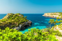 Free Majorca Beautiful Seascape Bay At The Coast Of Calo Des Moro, Mallorca Mediterranean Sea, Balearic Islands Stock Photo - 161023760