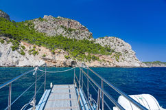 Majorca boat trip Royalty Free Stock Photography