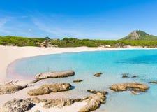 Majorca Cala Agulla beach in Capdepera Mallorca Stock Photography