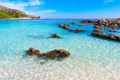 Majorca Cala Agulla beach in Capdepera Mallorca Royalty Free Stock Photos