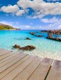 Majorca Cala Agulla beach in Capdepera Mallorca Stock Photo
