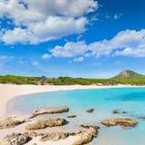 Majorca Cala Agulla beach in Capdepera Mallorca. At Balearic Islands of Spain Stock Photography