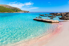 Majorca Cala Agulla beach in Capdepera Mallorca Royalty Free Stock Photo