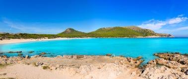 Majorca Cala Agulla beach in Capdepera Mallorca Stock Photos