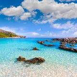 Majorca Cala Agulla beach in Capdepera Mallorca Stock Images