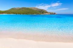 Majorca Cala Agulla plaża w Capdepera Mallorca Obrazy Royalty Free
