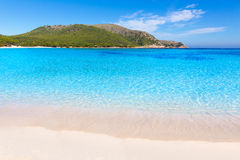 Majorca Cala Agulla strand i Capdepera Mallorca Royaltyfria Bilder