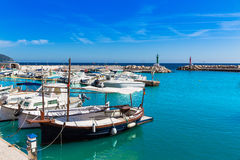 Majorca Cala Bona marina Son Servera Mallorca Royalty Free Stock Images