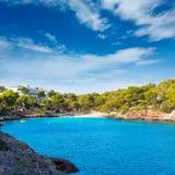 Majorca Cala Dor D eller strand i Mallorca Santanyi Arkivfoton