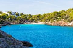 Majorca Cala Dor d o playa en Mallorca Santanyi imágenes de archivo libres de regalías