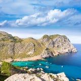 Majorca Cala Figuera beach of Formentor Mallorca Royalty Free Stock Image