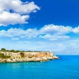 Majorca Cala Figuera in Santanyi Mallorca Balearic. Islands of spain Stock Photography