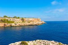 Majorca Cala Figuera in Santanyi Mallorca Balearic. Islands of spain Royalty Free Stock Photo