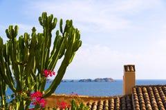 Majorca Cala Fornells beach Paguera Peguera. Calvia in Mallorca at Balearic island of Spain stock photography