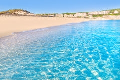 Majorca Cala Mesquida beach in Mallorca Balearic. Islands of Spain Stock Photos