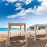 Majorca Cala Mesquida plaża w Mallorca Balearic Fotografia Royalty Free