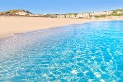 Majorca Cala Mesquida strand i Balearic Mallorca Arkivfoton