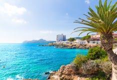 Majorca Cala Ratjada Rajada i Capdepera Mallorca arkivfoto