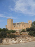 Majorca castle. Fantastic view of one of the most important monuments of palma de mallorca Stock Photo