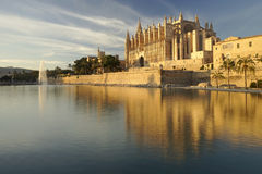 Majorca cathedral Stock Images
