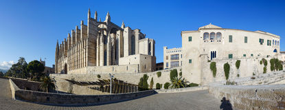 Majorca cathedral in balearic islands Royalty Free Stock Photo