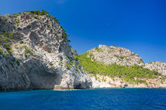 Majorca coast cliffs Stock Image